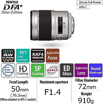 Hd Pentax D Fa 50mmf1 4 Sdm Aw Silver Edition In Kamera