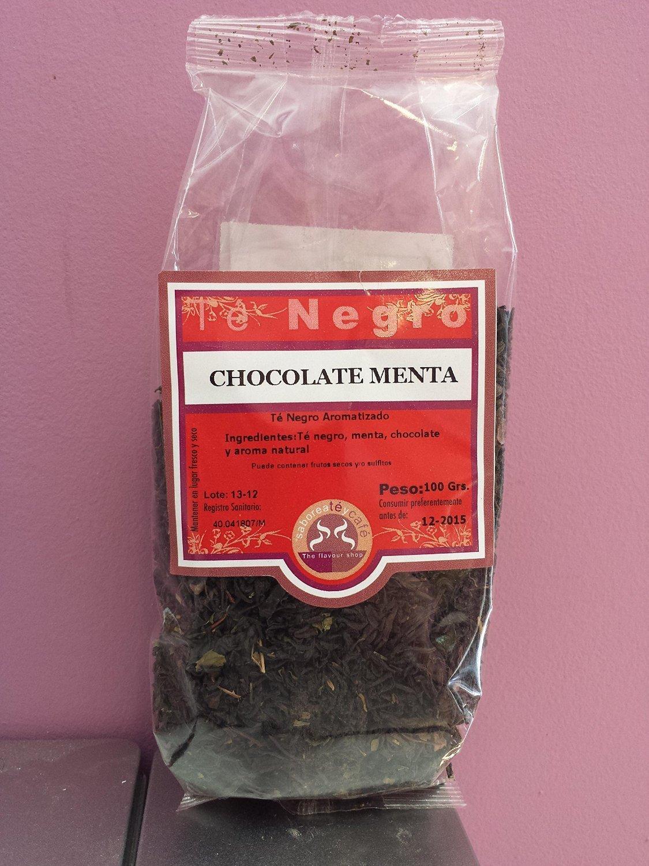 SABOREATE Y CAFE THE FLAVOUR SHOP Té Negro Chocolate Menta Hoja Hebra Granel Infusión Natural 100 Gramos: Amazon.es: Alimentación y bebidas
