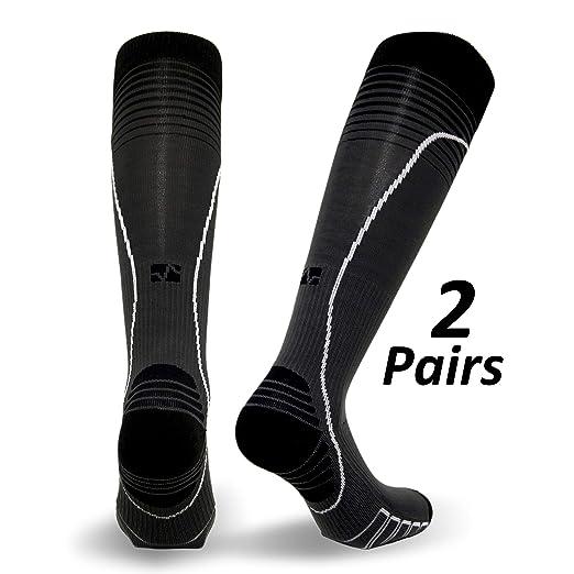 70bb18c97d Amazon.com: Vitalsox Italian Premium Patented Graduated Compression Silver  Drystat Running Socks(1Pair-Compression): Clothing