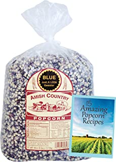 product image for Amish Country Popcorn | 6 lb Bag | Blue Popcorn Kernels | Old Fashioned with Recipe Guide (Blue - 6 lb Bag)