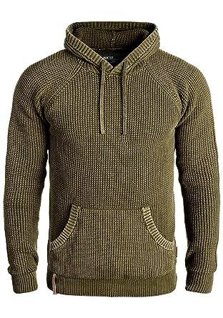 Indicode Asher Herren Winter Pullover Strickpullover Kapuzenpullover Grobstrick  Pullover mit Kapuze, Größe S, a83ce589d6