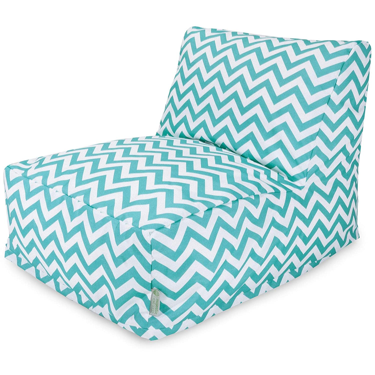 Sensational Majestic Home Goods Chevron Bean Bag Chair Lounger Teal Machost Co Dining Chair Design Ideas Machostcouk