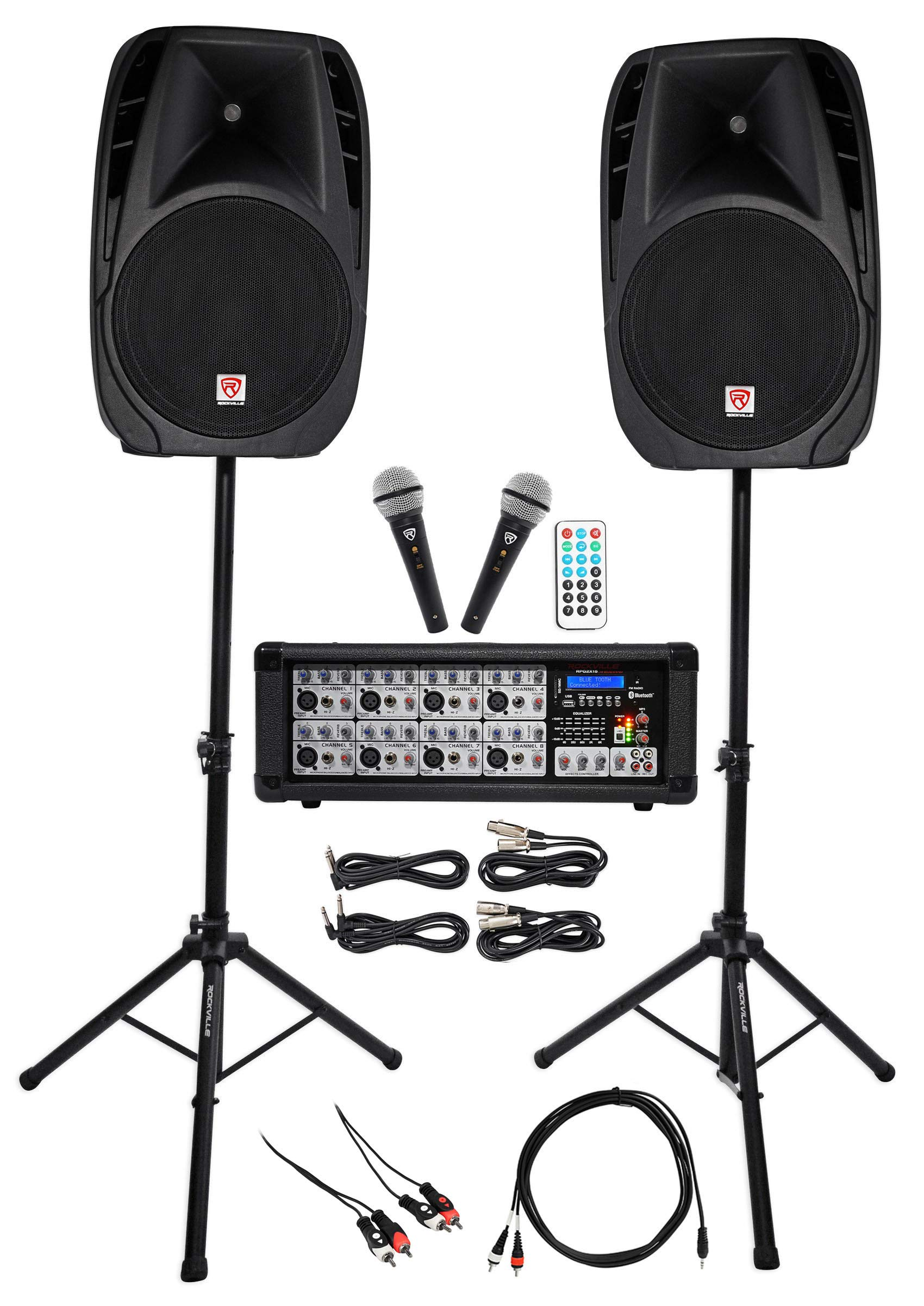 Rockville Dual 15'' Android/iphone/ipad/Laptop/TV Youtube Karaoke Machine/System