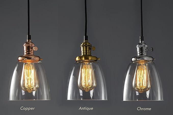 Lampade Da Soffitto Vintage : Lampadario a sospensione in vetro feven lampade trasparenti a