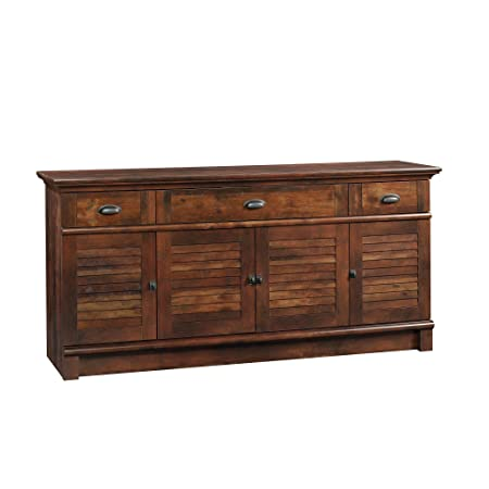 Sauder 420723 Harbor View Credenza, Curado Cherry Finish