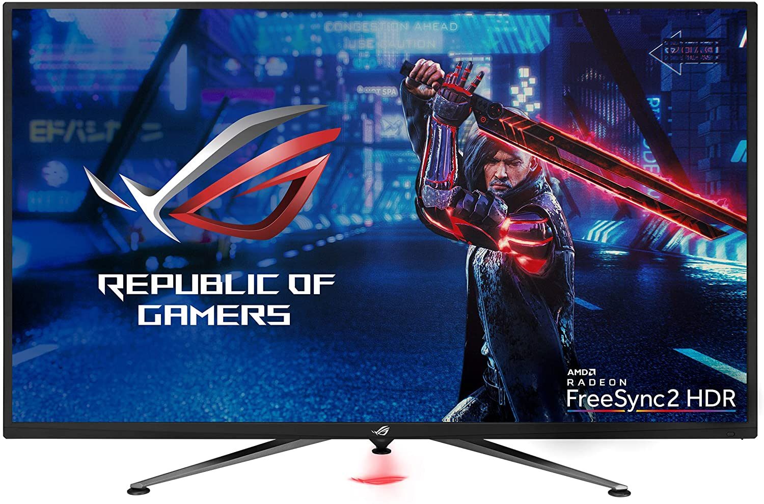 "Asus ROG Strix XG438Q 43"" Large Gaming Monitor with 4K 120Hz FreeSync 2 HDR Displayhdr 600 90% DCI-P3 Aura Sync 10W Speaker Non-Glare Eye Care with HDMI 2.0 DP 1.4 Remote Control,Black"