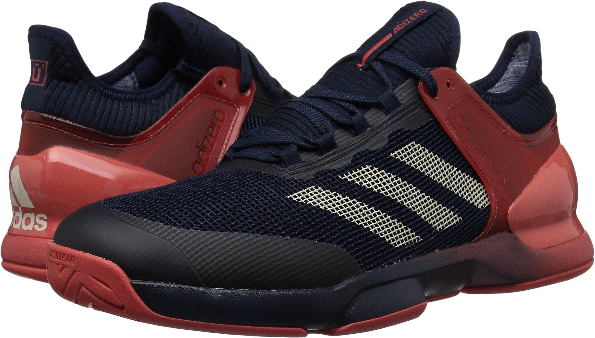 adidas Performance Men's Adizero Ubersonic 2 Tennis Shoe, Night Navy/Ecru Tint/Trace Scarlet, 11.5 M US by adidas