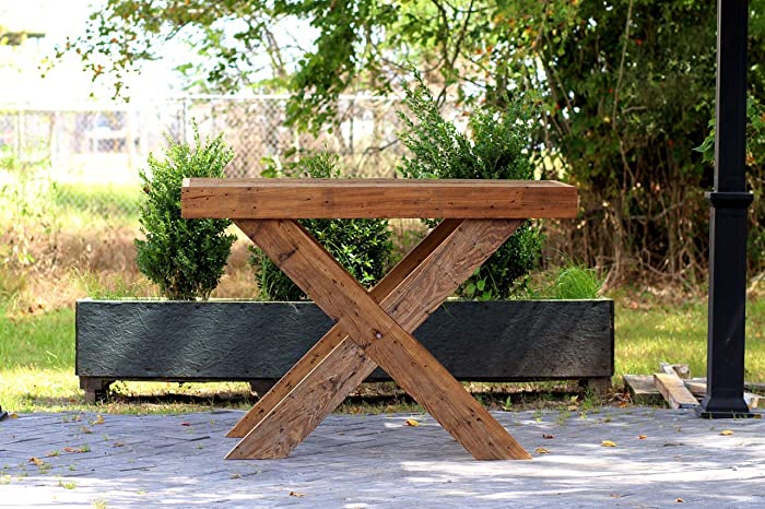 Amazon.com: Hand Crafted Barn Wood Table Craftsman Design ...