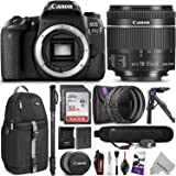 Canon EOS 77D DSLR Camera with 18-55mm Lens w/ Advanced Photo and Travel Bundle