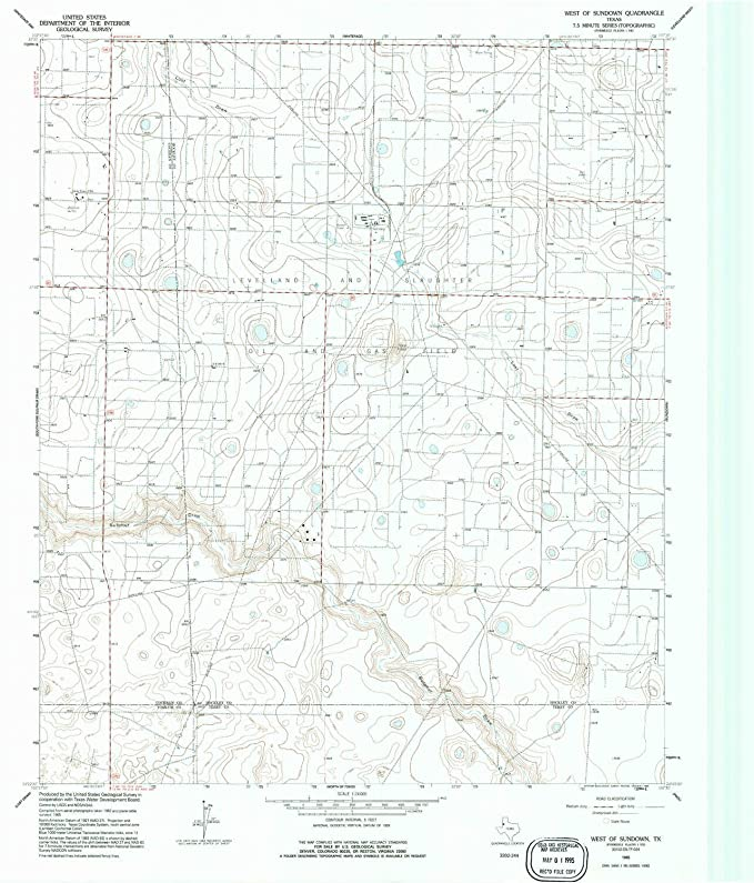 Amazon com: YellowMaps West of Sundown TX topo map, 1:24000 Scale