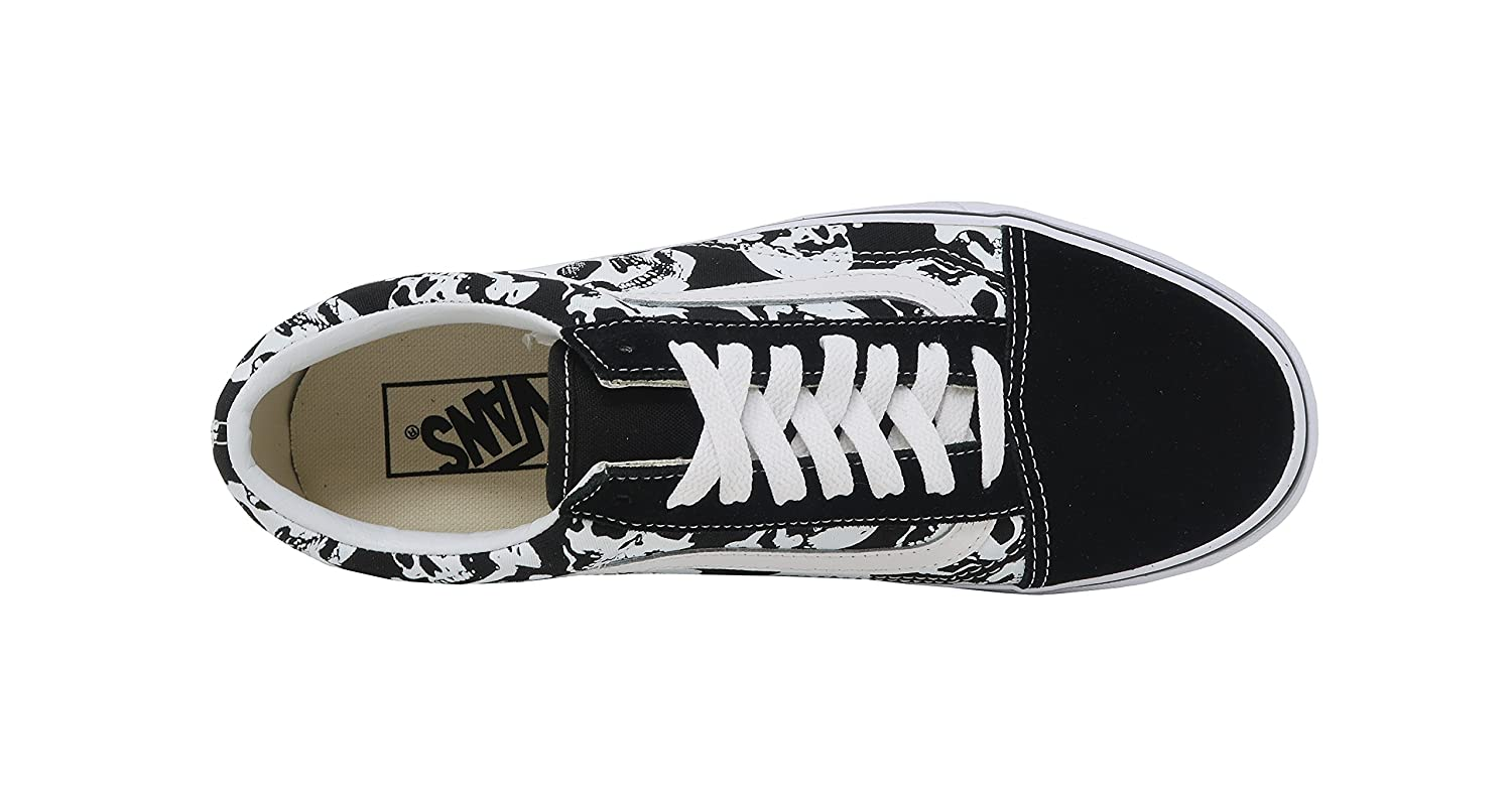 Vans Skulls Old Skool Unisex Mens Skateboarding-Shoes VN-0A3 B078YCHC91 10.5 M US Women / 9 M US Men|Black/White