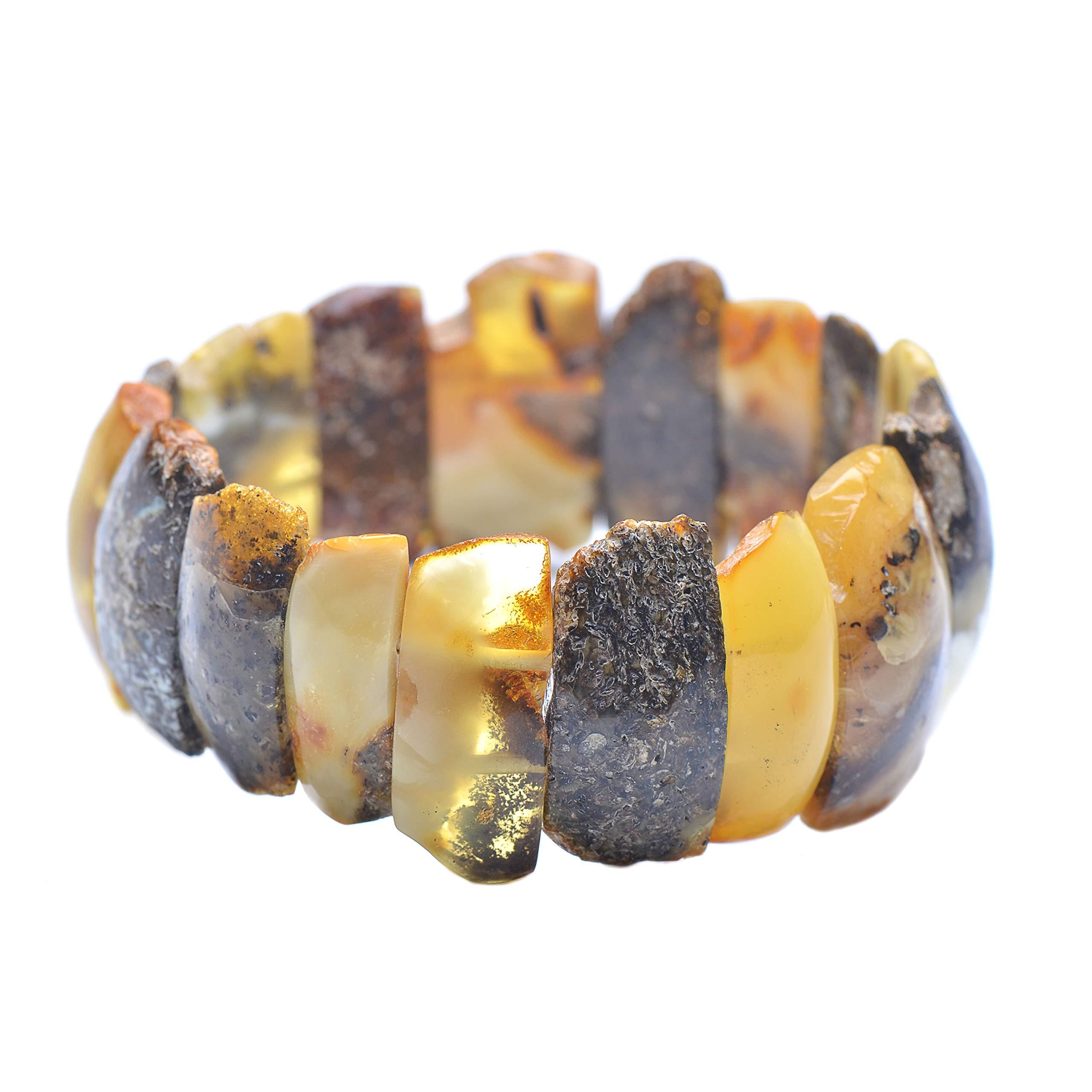 Colorful Amber Bracelet - Vintage Bracelet - Amber Bracelet - Vintage Amber Bracelet - Baltic Amber Bracelet by Genuine Amber (Image #4)
