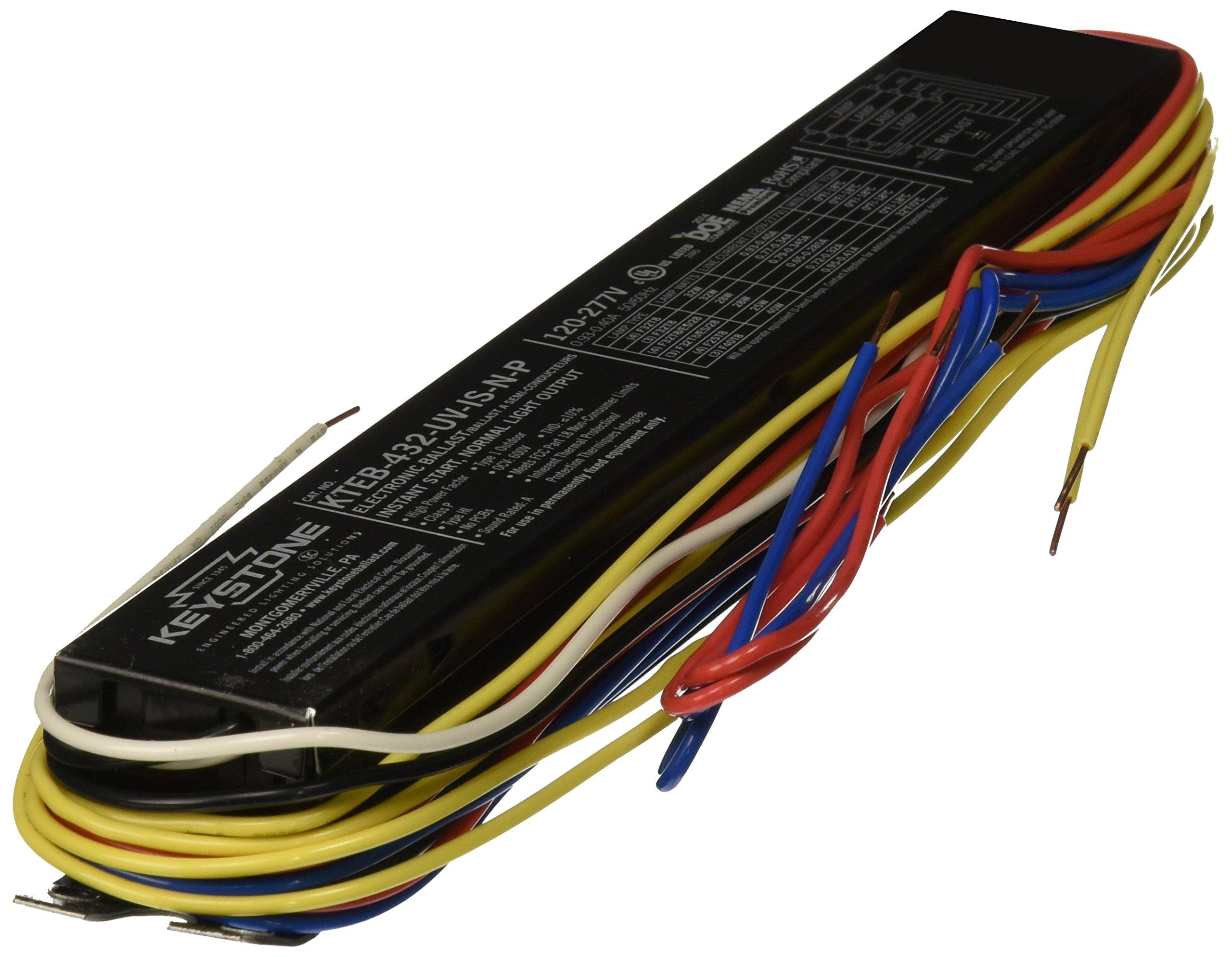 Keystone Ballast KTEB432UVISNP T8 Electronic Fluorescent Ballast