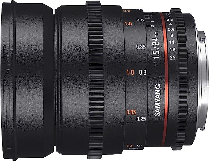 Samyang F1312801101 - Objetivo para vídeo VDSLR para Canon EF ...