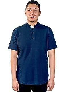 7945776b0be656 Liturgical Creations Mens European Cotton Short Sleeve Clergy Polo ...