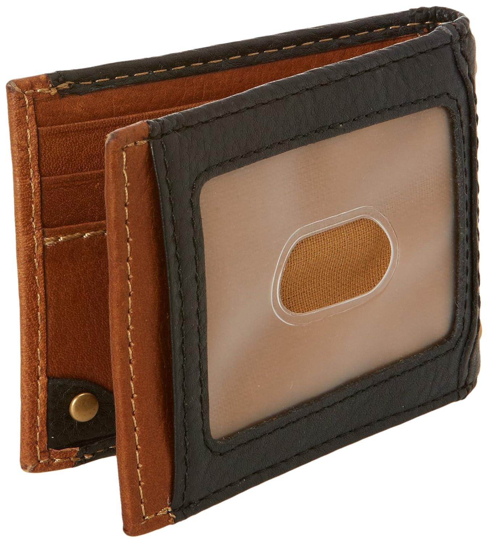 carhartt men 39 s long neck wallet with bottle opener money clip black tan one size apparel. Black Bedroom Furniture Sets. Home Design Ideas