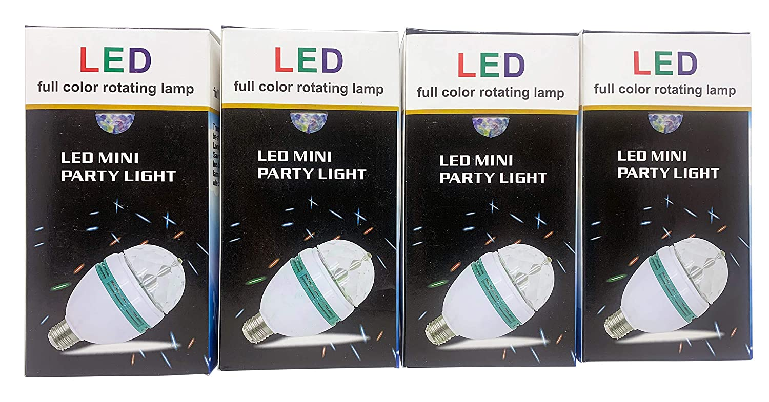 Pack of 4 led Full Color Rotating Light China