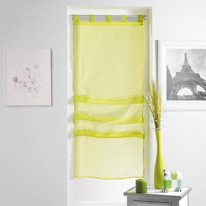 Douceur d'Intérieur Lissea Store Forme Droite Voile Sable Polyester Ciel 180 x 45 cm 1623684