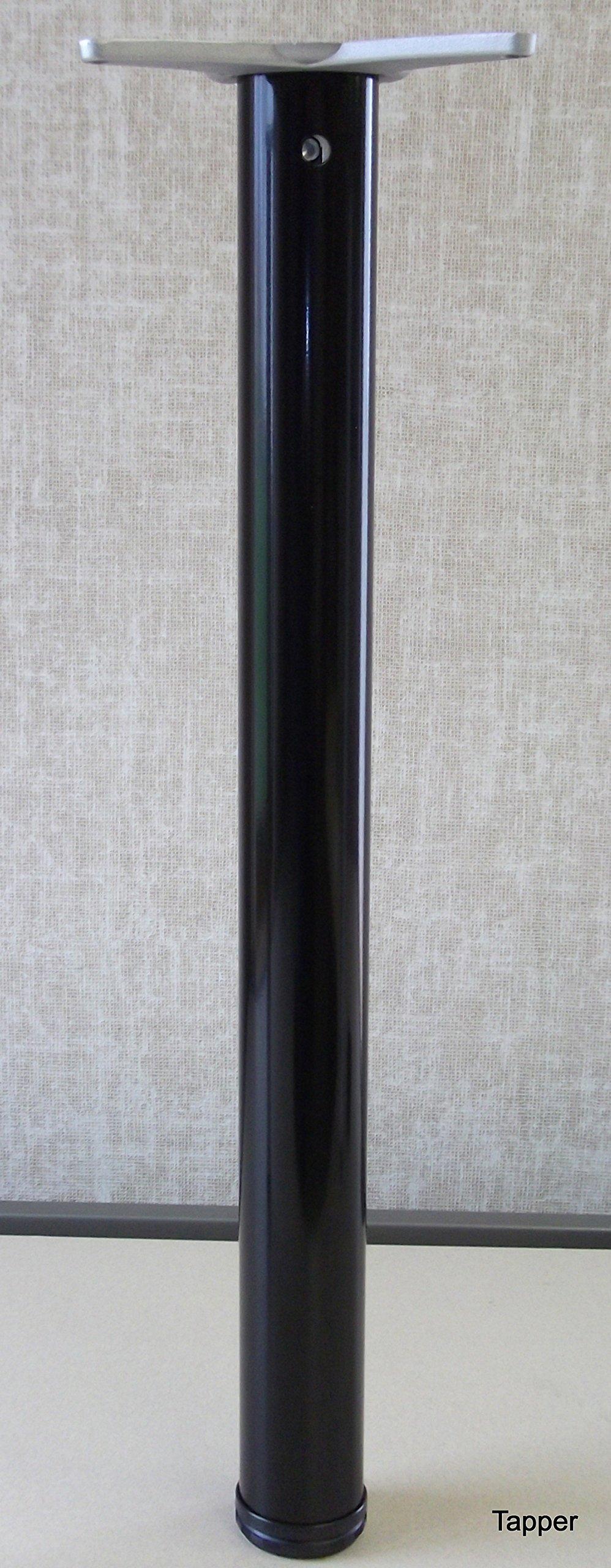 28'' Office Height Table Leg adjustable, 27.50'' to 28.75'', Black
