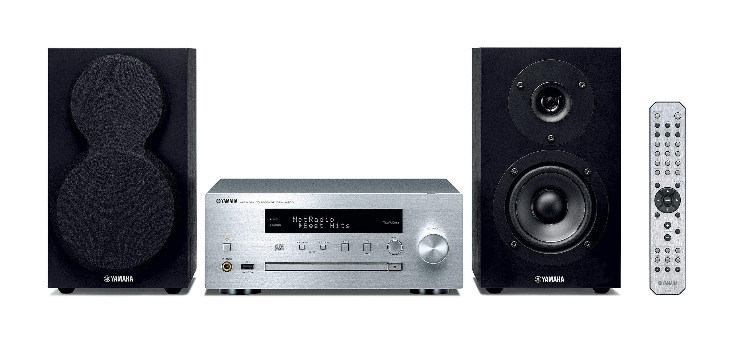 Yamaha MusicCast MCR-N470D - Microcadena, plata: Amazon.es ...