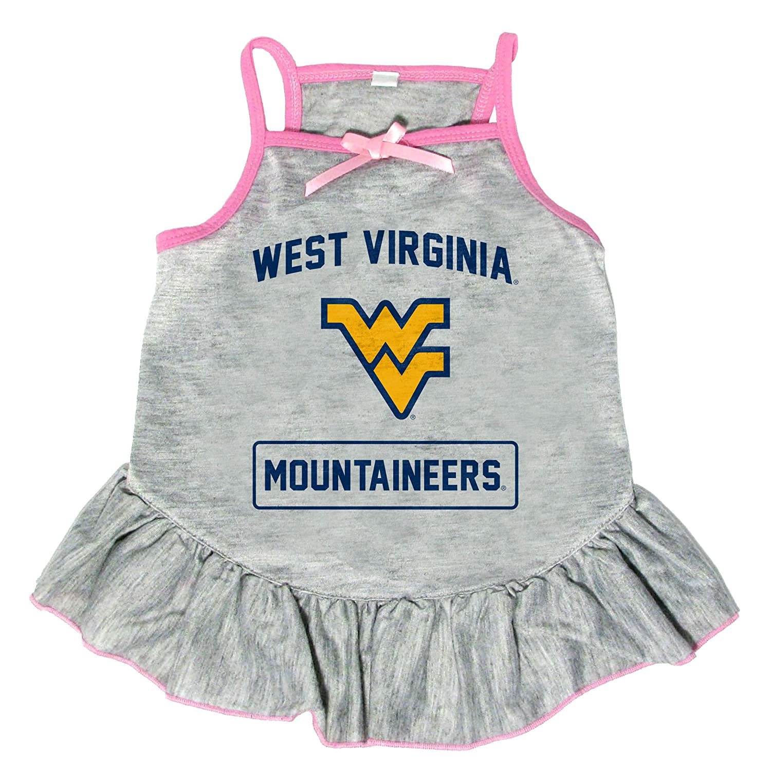 Extra Small Littlearth NCAA West Virginia Mountaineers Pet Dress