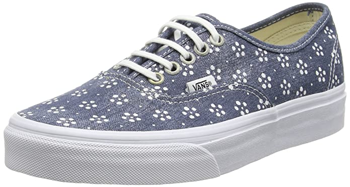 Vans Unisex-Erwachsene Authentic Low-top Blau Webbing/Batik/Navy