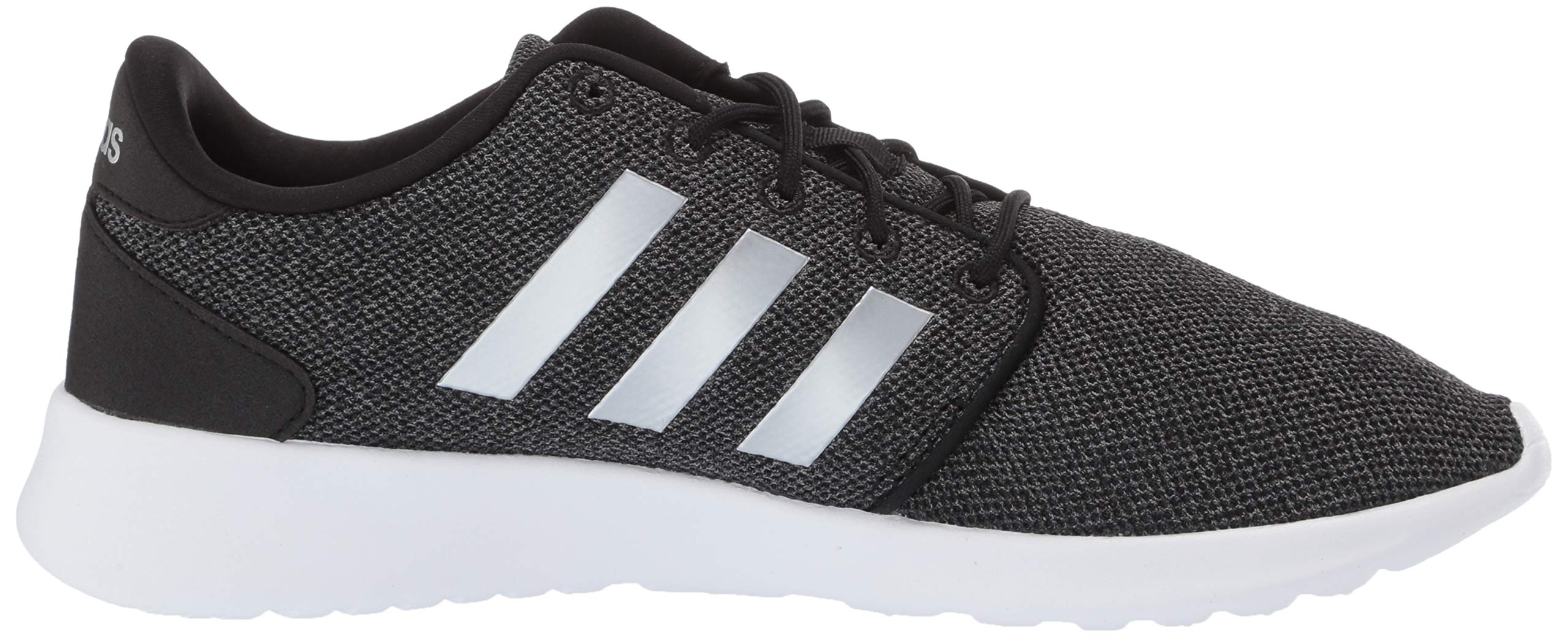 adidas Women's Cloudfoam Qt Racer Sneaker, Black/Silver Metallic/Grey, 5.5 M US by adidas (Image #6)