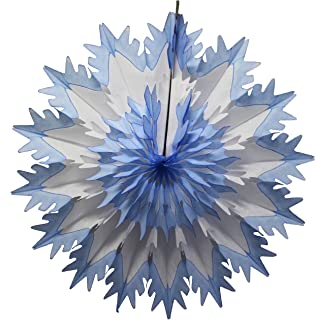 """product image for Devra Party 19"""" Tissue Paper Snowflake (6-Pack, Blue Tip)"""