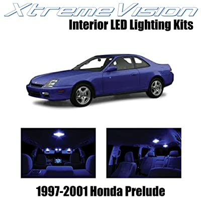 Xtremevision Interior LED for Honda Prelude 1997-2001 (5 Pieces) Blue Interior LED Kit + Installation Tool: Automotive