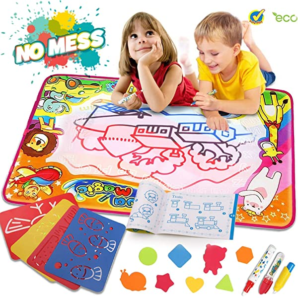 Educational Toys For Toddler Water Drawing Mat Kids Learning Toy Doodle Board