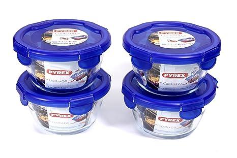 Pyrex redondo Cook & Go 4pc Set 0,7 l - Recipiente redondo ...