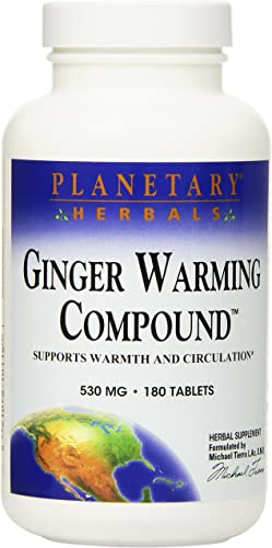 Planetary Herbals Ginger Warming Compound Tablets, 180 Count