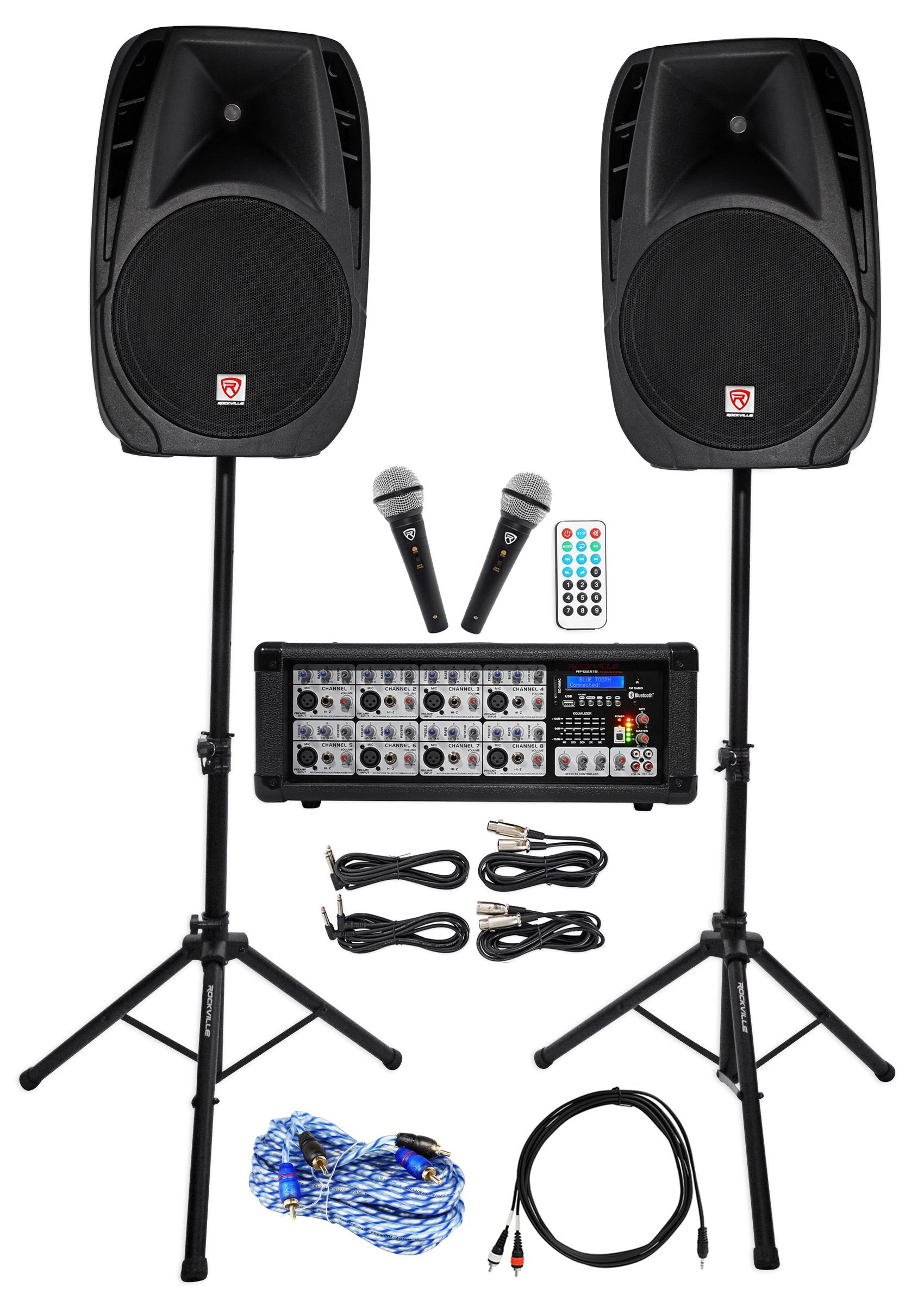 Rockville Dual 15'' Android/iphone/ipad/Laptop/TV Youtube Karaoke Machine/System