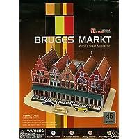 Cubic Fun 3D 45 Parça Puzzle Bruges Marketi - Belçika