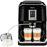 Krups EA8808 Kaffeevollautomat (Two-in-One-Touch Funktion, 15 bar, Touchscreen-Farbdisplay) Edelstahl/Schwarz