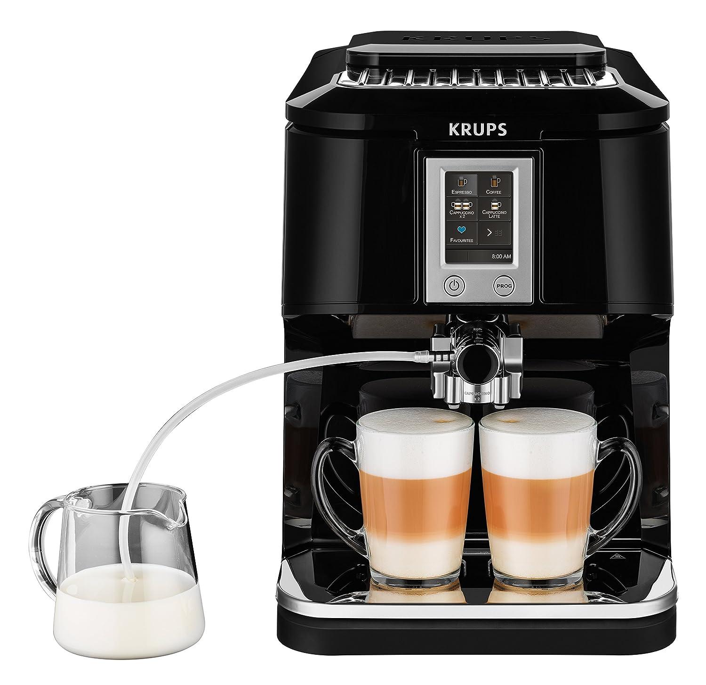 Krups EA8808 Independiente Totalmente automática Máquina espresso 1.7L Negro - Cafetera (Independiente, Máquina espresso, 1,7 L, Molinillo integrado, ...