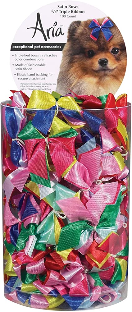 Aria Pixie Bows for Dogs 100-Piece Canisters