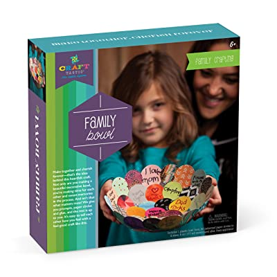 Craft-tastic – Make Together Family Bowl – Personalized Craft for Family Night: Toys & Games