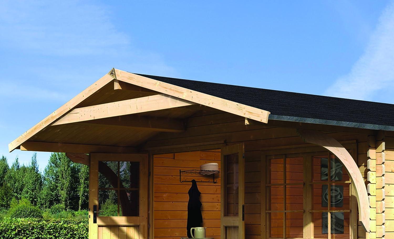 Karibu Gartenhaus Hardenberg 2 mit Vordach 28mm