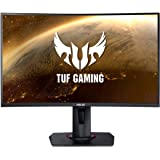 """ASUS TUF Gaming VG27VQ 27"""" Curved Monitor, 1080P Full HD, 165Hz (Supports 144Hz), Freesync, 1ms, Extreme Low Motion Blur…"""