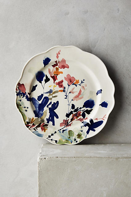 Wildflower Study Side Plate - anthropologie.c​om