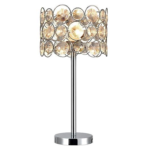 lux.pro] Lámpara de mesa - Diseño excepcional (1xE27) - cromo y ...