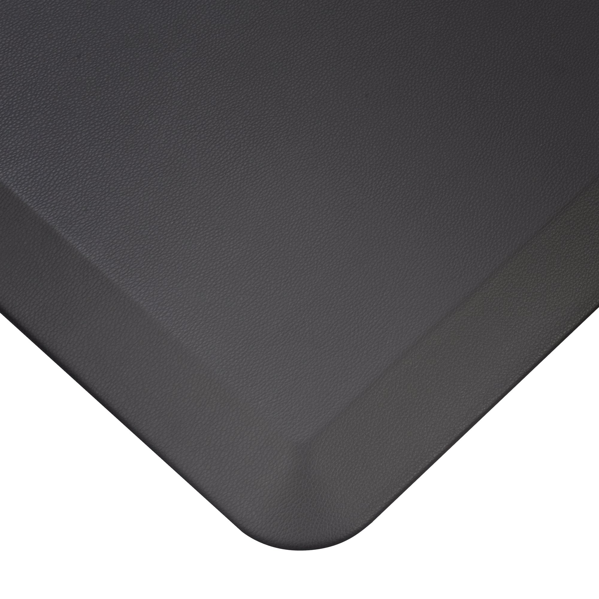 Cook N Home Anti-Fatigue Comfort Mat, 39 x 20'', Faux Leather, Black, 3/4'' Thickness
