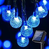 Guirnalda Luces Exterior Solare, BrizLabs 13.8M 60 LED Cadena de Luces Bolas Led Decoracion Impermeable 8 Modos Interior…