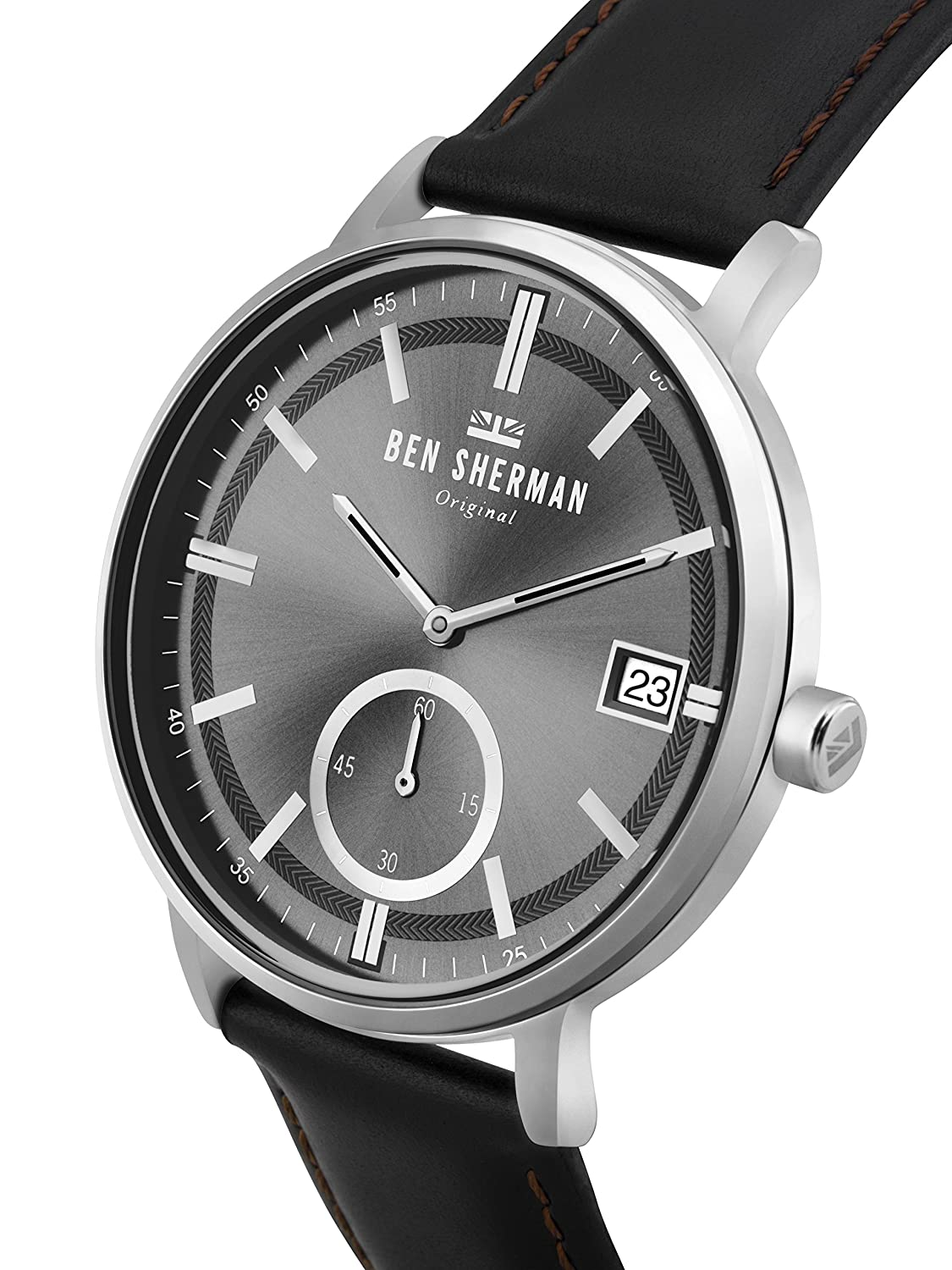 Amazon.com  Ben Sherman Men s Portobello Professional Quartz Watch with  Leather Strap cca172c39d0