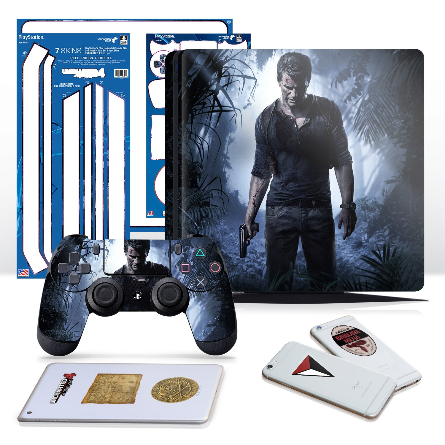 Amazon Com Controller Gear Uncharted 4 A Thief S End Ps4 Slim
