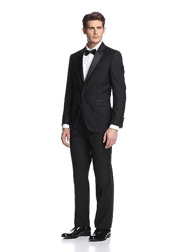 Kenneth Cole New York Men's Slim Fit Tuxedo,Black,38 Short/32 Waist