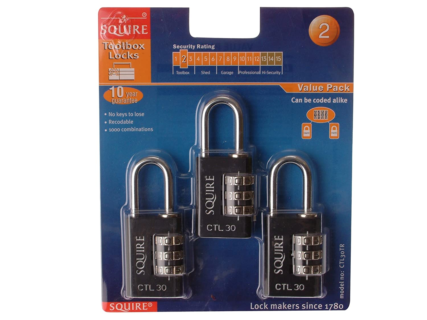 Squire CSL40 Combination Padlock 40mm Henry Squire