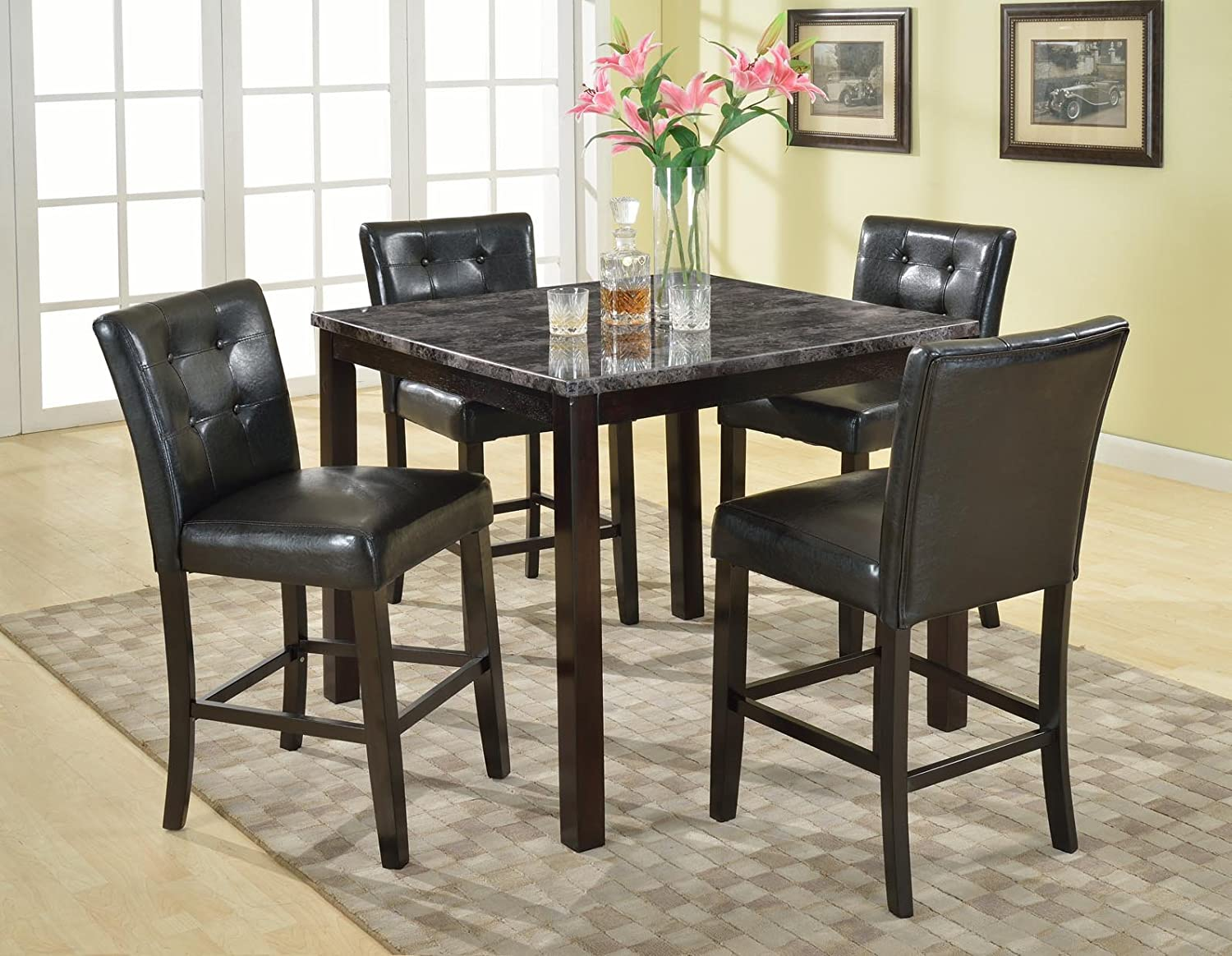 Fascinating Black Dining Room Chairs Set Of 4 Gallery - Best ...