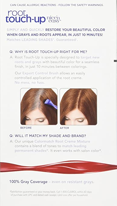 Clairol Nice 'n Easy Root Touch-Up 4R Kit (Pack of 2), Matches Dark  Auburn/Reddish Brown Hair Color